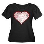 Words for Love in different l Women's Plus Size Sc