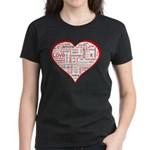 Words for Love in different l Women's Dark T-Shirt