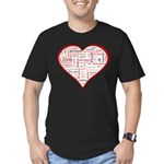 Words for Love in different l Men's Fitted T-Shirt