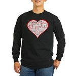 Words for Love in different l Long Sleeve Dark T-S