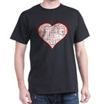 Words for Love in different l Dark T-Shirt