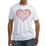 Words for Love in different l Fitted T-Shirt