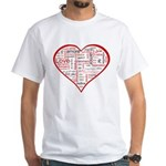 Words for Love in different l White T-Shirt