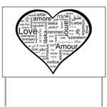Love in many languages Yard Sign