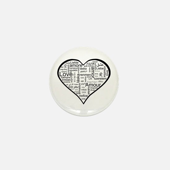 Love in many languages Mini Button