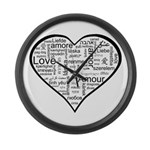Love in many languages Large Wall Clock