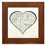 Love in many languages Framed Tile
