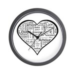 Love in many languages Wall Clock