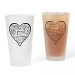 Love in many languages Drinking Glass