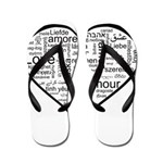 Love in many languages Flip Flops