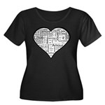 Love in many languages Women's Plus Size Scoop Nec
