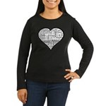 Love in many languages Women's Long Sleeve Dark T-