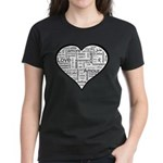 Love in many languages Women's Dark T-Shirt