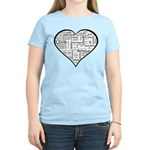 Love in many languages Women's Light T-Shirt