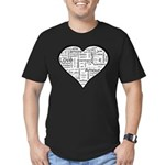 Love in many languages Men's Fitted T-Shirt (dark)