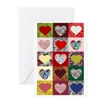 Heart Quilt Pattern Greeting Cards (Pk of 10)