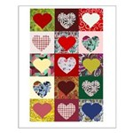 Heart Quilt Pattern Small Poster
