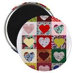 Heart Quilt Pattern Magnet