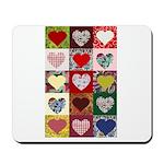 Heart Quilt Pattern Mousepad