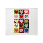Heart Quilt Pattern Throw Blanket