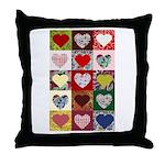 Heart Quilt Pattern Throw Pillow