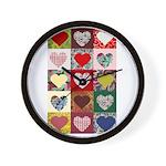 Heart Quilt Pattern Wall Clock