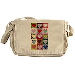 Heart Quilt Pattern Messenger Bag