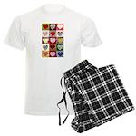 Heart Quilt Pattern Men's Light Pajamas