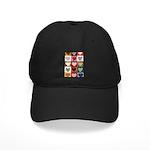 Heart Quilt Pattern Black Cap