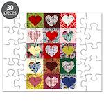 Heart Quilt Pattern Puzzle