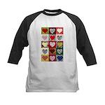 Heart Quilt Pattern Kids Baseball Jersey