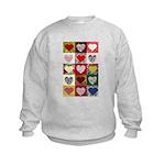 Heart Quilt Pattern Kids Sweatshirt