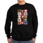 Heart Quilt Pattern Sweatshirt (dark)