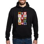Heart Quilt Pattern Hoodie (dark)