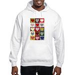 Heart Quilt Pattern Hooded Sweatshirt