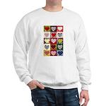 Heart Quilt Pattern Sweatshirt