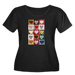 Heart Quilt Pattern Women's Plus Size Scoop Neck D
