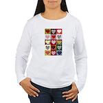 Heart Quilt Pattern Women's Long Sleeve T-Shirt