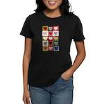 Heart Quilt Pattern Women's Dark T-Shirt