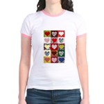 Heart Quilt Pattern Jr. Ringer T-Shirt
