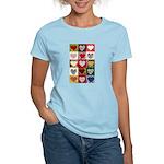 Heart Quilt Pattern Women's Light T-Shirt