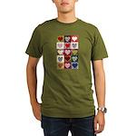 Heart Quilt Pattern Organic Men's T-Shirt (dark)