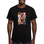 Heart Quilt Pattern Men's Fitted T-Shirt (dark)