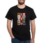 Heart Quilt Pattern Dark T-Shirt
