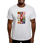 Heart Quilt Pattern Light T-Shirt