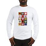 Heart Quilt Pattern Long Sleeve T-Shirt