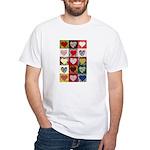 Heart Quilt Pattern White T-Shirt