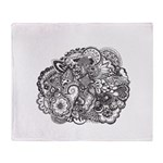 Pen and Ink Detailed Line Dra Throw Blanket