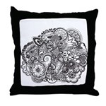 Pen and Ink Detailed Line Dra Throw Pillow