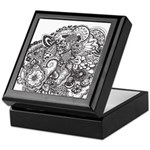 Pen and Ink Detailed Line Dra Keepsake Box